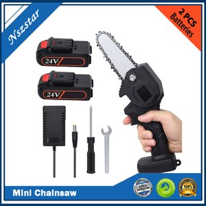 Mini Cordless ChainSaw 4 inch Portable 0.7kg Electric Chain Saw Pruning Scissors Electric Saw Suitable for wood cutting and branches