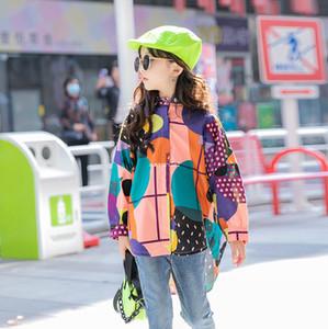 2021 New Children Polka dot printed shirt Old Kids Lapel Long sleeve shirts Fashion Girls Casual Tops 3-15T A5669