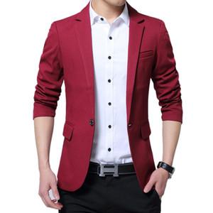 2020 New Luxury Men Casual Clothing Suits Dress Blazer Slim Fit Male Blaser Masculino Jacket Wedding Blazer for Men Regular Red