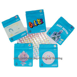 50 100x biscuit bag deodorant Cali bag SF polyester film bag Cali (including anti-counterfeiting signs and labels) Y1121