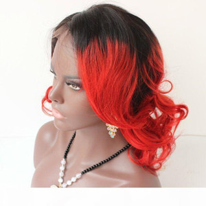 1B Red 100% human hair wigs Short Bob lace front wigs 100% lace wig Full Lace human hair wigs for black women