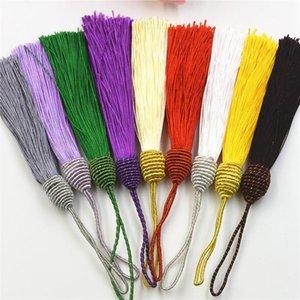10pcs Polyester Silk Tassels Fringe Pendentif DIY Matière Cordon Tassels Couper les rideaux à la maison Décor Tassels Tassels Accessoires de ruban H Bbyhijjij