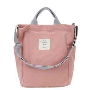 Designer- Korean Canvas Shoulder Designer Messenger Bag Women Simple Handbag Letter Print Bag