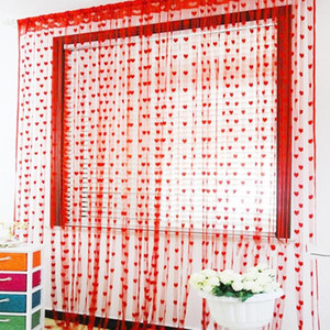 New 6 Colors Heart Style Line Door Curtain Aisle Window Curtain Divider Valance Living Room Decoration Fashion Line Door
