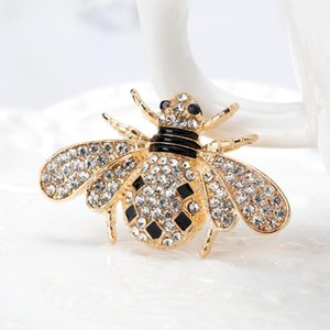 10pcs Women Delicate Little Bee Brooches Crystal Rhinestone Pin Brooch Enamel Brooches Jewelry Gifts For Women Men Brooch