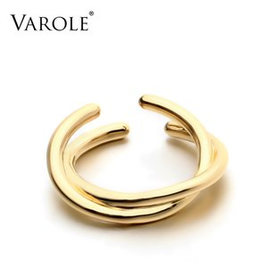 VAROLE Hight Quality Copper Gold Rings for Women Jewelry New Arrival Rings Best Christmas Gift
