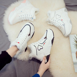 2020 Newset Women love Boots Lace Outdoor Winter Plush Casual Shoes Wear Female Snow Boots Footwear Zapotos Mujer Warm Sneakers Q572 gift