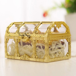 Square Hollow Candy Box Jewelry Boxes Mini Wedding Candy Gift Box Plastic Storage Organizer Container Wedding Party Gift