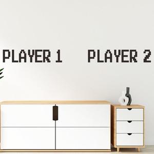 wall stickers bedroom wand aufkleber vinilo decorativo pared gabinete gamer player naklejki muursticker pegatinas de pared