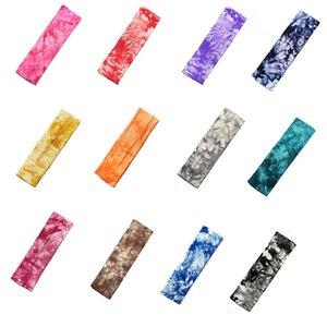 Tie Dye Cycling Yoga Sweat Sweat Diadema Hombres Sweatband para hombres Mujeres Yoga Bandas de pelo Cabeza Sudor Bandas Deportes Accesorios para el cabello Q Jlljxj