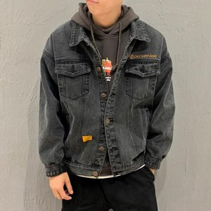 Spring and autumn winter denim coat men's loose and thick jacket men's casual Plush work coat