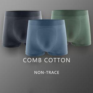 Underwear Men Boxer Men's Ice Silk Seamless Boxers Boxer Shorts Boxershorts Long Underpants Natural Cotton High Quality 2020