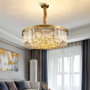 Modern crystal chandelier for living room luxury gold cristal lamps dining room bedroom led light home chain lighting fixtures