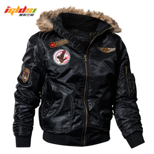 IGLDSI Men's Bomber Pilot Jacket Winter Parkas Army Military Motorcycle Jacket Cargo Outerwear Air Force Army Tactical coats 4XL 201118