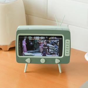 2 In 1 TV Shape Tissue Box Multifunctional Desktop Drawer Box Mobile Phone Viewing Bracket Plastic Living Room Storage