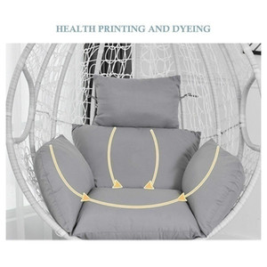 Swing Cushion Mat Hanging Indoor Outdoor Patio Egg Chair Seat Pad Pillow (Without Chair)