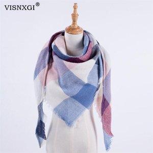 Visnxgi Frauen Winter Schal Schal Kaschmir Schals Tücher Decke Dreieckschals Scarve Decke Warme Winter