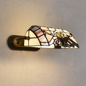 Lampada da parete Tiffany in vetro colorato classico barocco europeo per soggiorno E27 110-240V