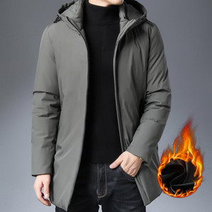 Boutique add cotton coat grows in winter 2020 young men's fashion men hooded warm cotton-padded jacket men long sleeve cotton