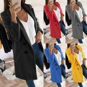 Женщины Blazers и Куртки 2020 Женщина Пальто Кнопка Office Blazer Элегантные Дамы Официальные Blazers Женские Куртки Осень Costume1