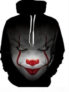 2018 nueva película IT Pennywise Clown Stephen King 1990 2018 Horror Movie Hoodie Sudadera Cosplay Sportswear Thacksuit
