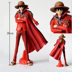 One Piece Аниме цифрах Обезьяна D Луффи Действие Король Исполнитель Luffy 20-й годовщины Фигурка Красная Одежда Chopper Модель ПВХ игрушки