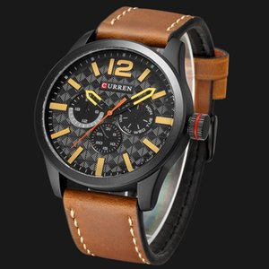 2020 Relogio Masculino Big Dial Men CURREN Watches Top Luxury Black Quartz Military Wrist Watch Men Clock Men's Sports Watch
