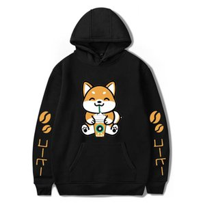 WAMNI Brand Fashion Hoodies Casual Dog Coffee Print Harajuku Stylish Pullovers Sweatshirts Male Autumn Puls size Hoodie 2020