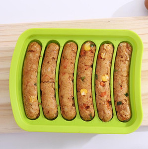 Ev yapımı DIY Silikon Sosis Kalıp Sıcak Köpek Kalıpları Değirmen Pişirme Mutfak Silikon Kalıp Kahvaltı Araçları BWC4431
