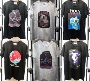 2021S T рубашка мужчин Женщины 1 Высокое Качество Цифровая печать Top Tees футболка