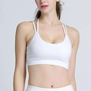 Women's White Push Up Fitness Running Ba Circle Bra Qui-drying Yoga Sports Underwear