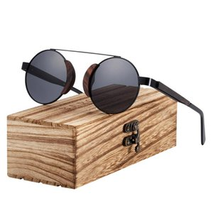 BARCUR Rouond Sunglasses Wood Polarized Sun glasses for Women Men With Original Package