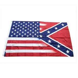 3 * 5ft Amerika Yıldız Bayrağı Konfederasyon Bayrağı 150 * 90 cm Polyester Ulusal Bayraklar ABD Battle Güney Bayrakları Açık Bahçe Banner HHA1679