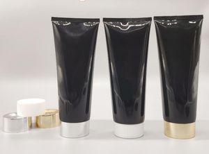 Frete Grátis 200g Preto Squeeze Tube 200ml Facial Cleaner Recipiente Loção de Corpo Embalagem Esvazia Garrafas Cosméticas AHF3383