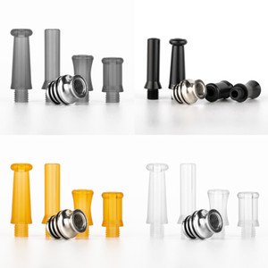 510 Drip Tip Kit 4 in 1 stainless steel and Epoxy Resin 4 types drip tips with SS core base set DHL Free