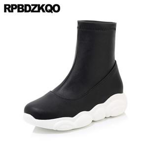 black women ankle boots 2020 round toe waterproof muffin 12 44 big size platform harajuku flatform plus 13 45 shoes european