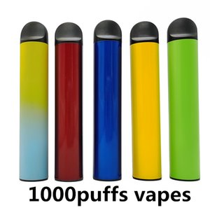 1000puffs Disposable Vape Pen Larger Vapes Disposable Electronic Cigarettes Vape Starter Kits Empty Custom Vapor Electronic Vape Pen Battery
