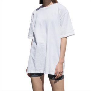 Long T Shirt Women Oversize Aesthetic Grunge Style White Black Pink Kpop Christmas Loose Baggy Basic Cotton Tunic Tops Plus Size