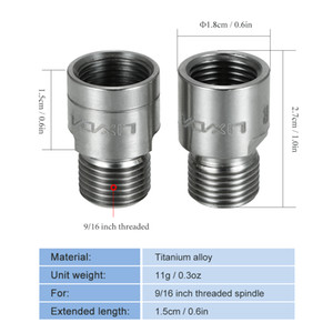 Lixada Bike Pedal Extenders Bicycle Pedal Spacers for MTB Road 9 16 Inch Pedal Adapters Spacers One Pair Steel or Titanium
