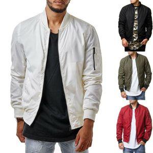 2020 Mens Zip Up Jacket Warm Winter Baseball Coat Waterproof And Windproof Jacket Slim Outwear Overcoat