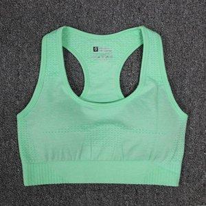رياضة ملابس النساء الصلبة اليوغا الرياضة برأس سلس اللياقة البدنية الرياضة الصدرية الجري تجريب الإناث أعلى الرياضة