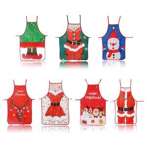 Santa Claus Christmas Apron Adjustable Cooking Aprons Xmas Decor Noel Navidad Decorations Restaurant House Kitchen Supplies JK2010PH