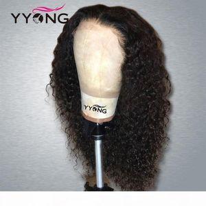 Yyong 1x4 13x6 تي جزء الماليزي غريب مجعد الدانتيل الجبهة شعر الإنسان شعر مستعار hd شفافة الرباط الباروكات ريمي الإنسان شعر مستعار 120٪ 32 بوصة