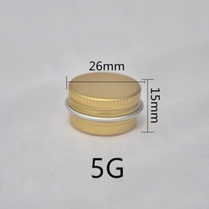 (100pcs)5g empty golden round aluminum lip balm tins for cosmetic packagingr,5cc cream jar bottle with lid Mini box