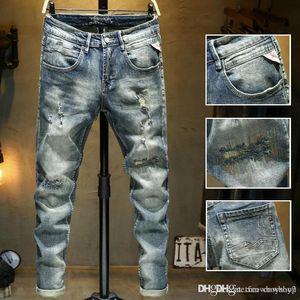 Jeans Diesel Ripped Biker Fashion Slim Fit Motorcycle Biker Men For Mens Jeans Distressed Men Denim Designer Luxury Ogvud