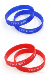 2020 Make America Great Bracelet Silicone Rubber Luminous Wrist Band Trump Supporters Bangles Cuff Mens Women Jewelry