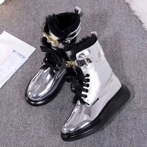 2020 Women Red Bottom Tread Slick Boots Black Leather Communa Ankle Boots For Women Flat Party Dress Winter Luxury Designer Shoes kk8