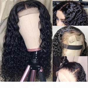 Natural 13x6 onda de agua encaje frontal de encaje vendedores de cabello humano pre arrollado Transparente Waterwave Frontal Wig 360 Frontal