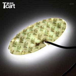 TCART 4D LED Ön Rozeti Sticker Işık LED Işık 4D Logo Amblemler Kia K5 Soul Forte Cerato Sorento1