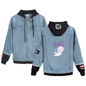 2020 Funny Player LaurenzSide Denim Jean Stitching Jacket Coat Harajuku jeans LaurenzSide hoodies For Men Women StreetwearX1121